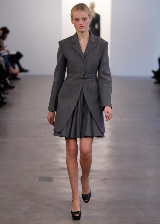 Black ,double ,breasted brindle wool skirt
