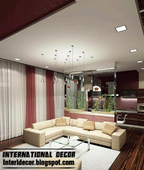 suspended ceiling false, ceiling spot light, lighting design for living