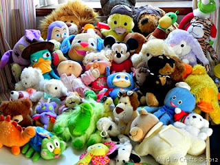 Picture of many stuffed animals