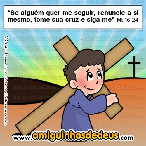 renuncie a si mesmo, tome sua cruz e siga-me desenho