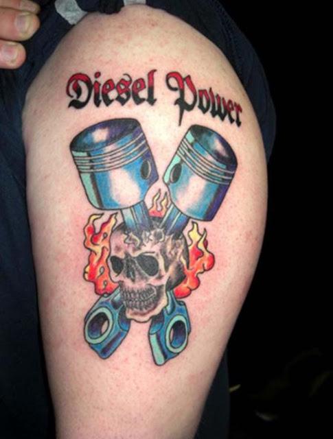 Engine Piston Tattoo
