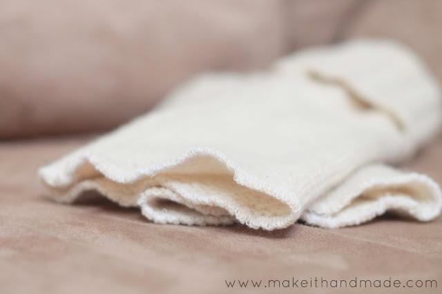 Sweater to Fingerless Glove Tutorial from Make It Handmade