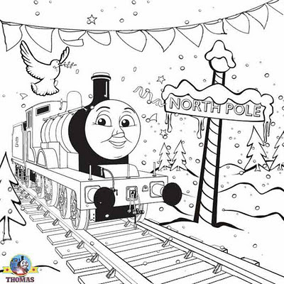 Thomas and Friends Christmas Coloring Pages