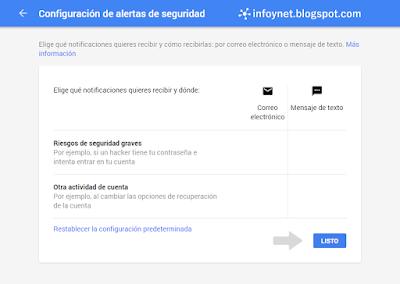 Configurar las alertas de seguridad de una cuenta de Google