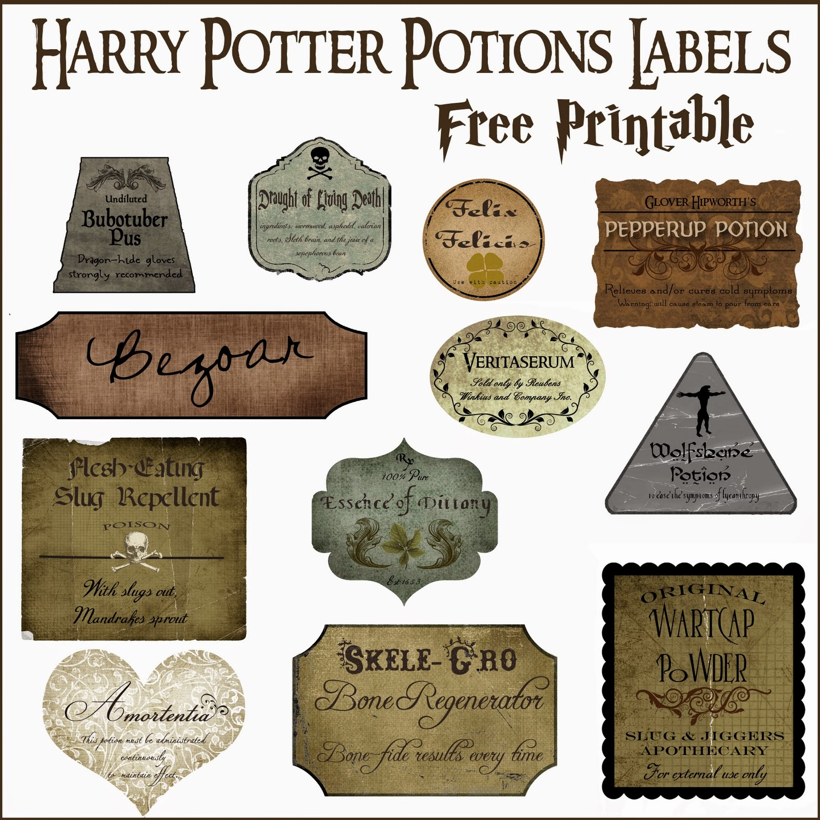 harry potter label
