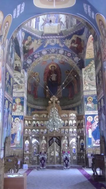 Vedere spre altarul Manastirii Saon - jud. Tulcea