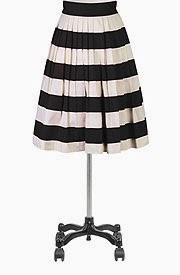 Her fifties colorblock skirt