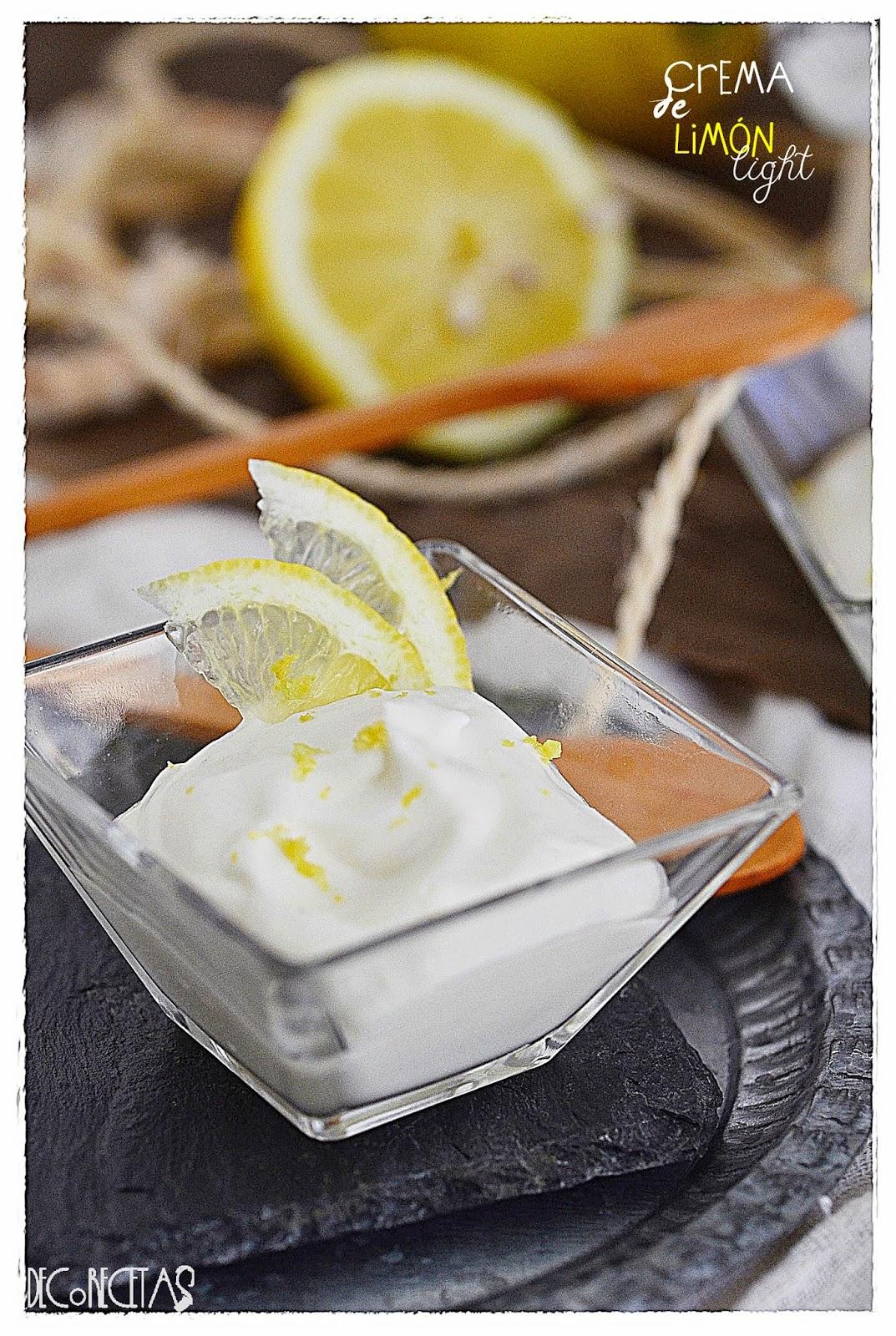 Crema de limón helada light