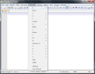 Notepad++ Language List