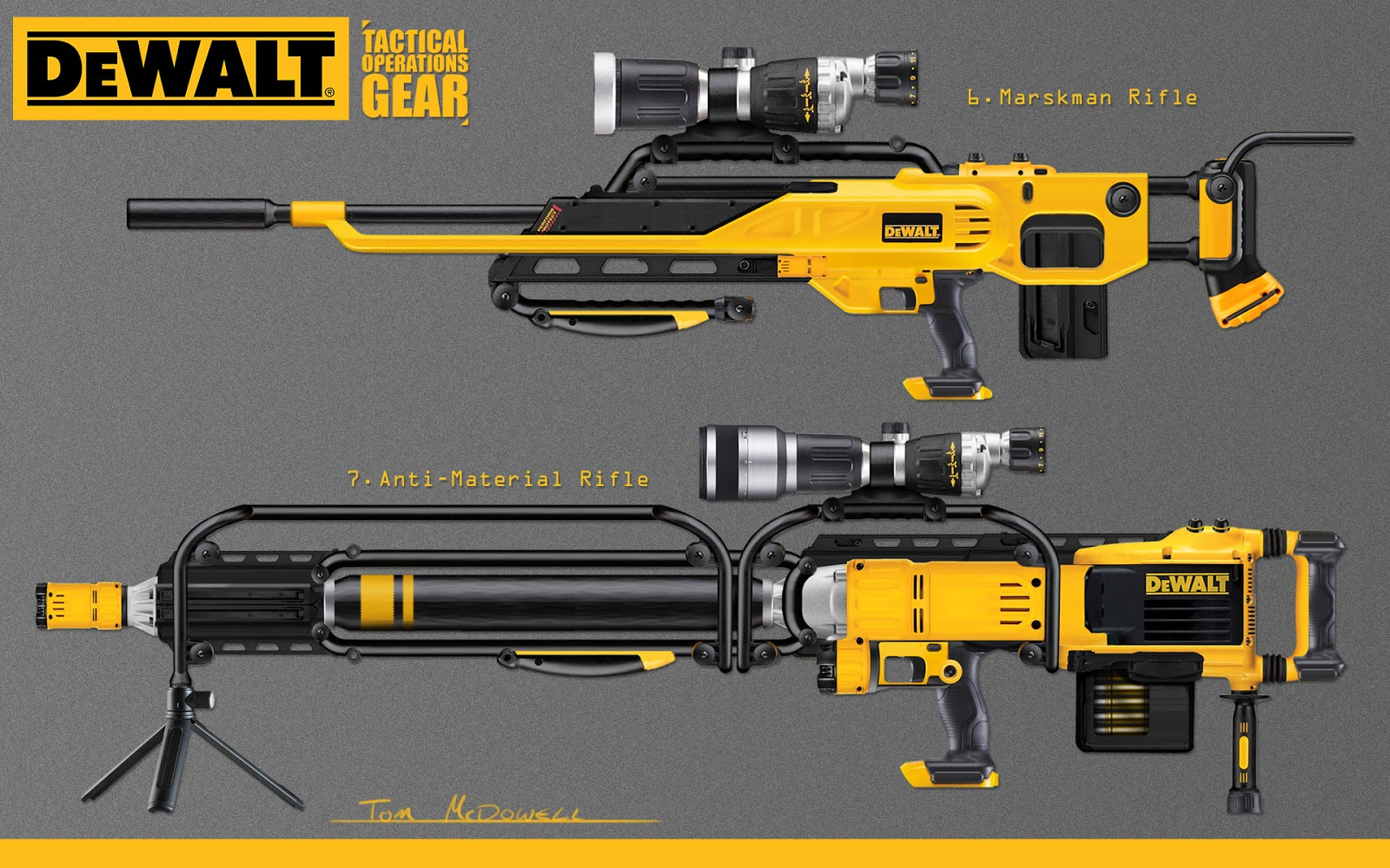 Tom McDowell: Dewalt Guns