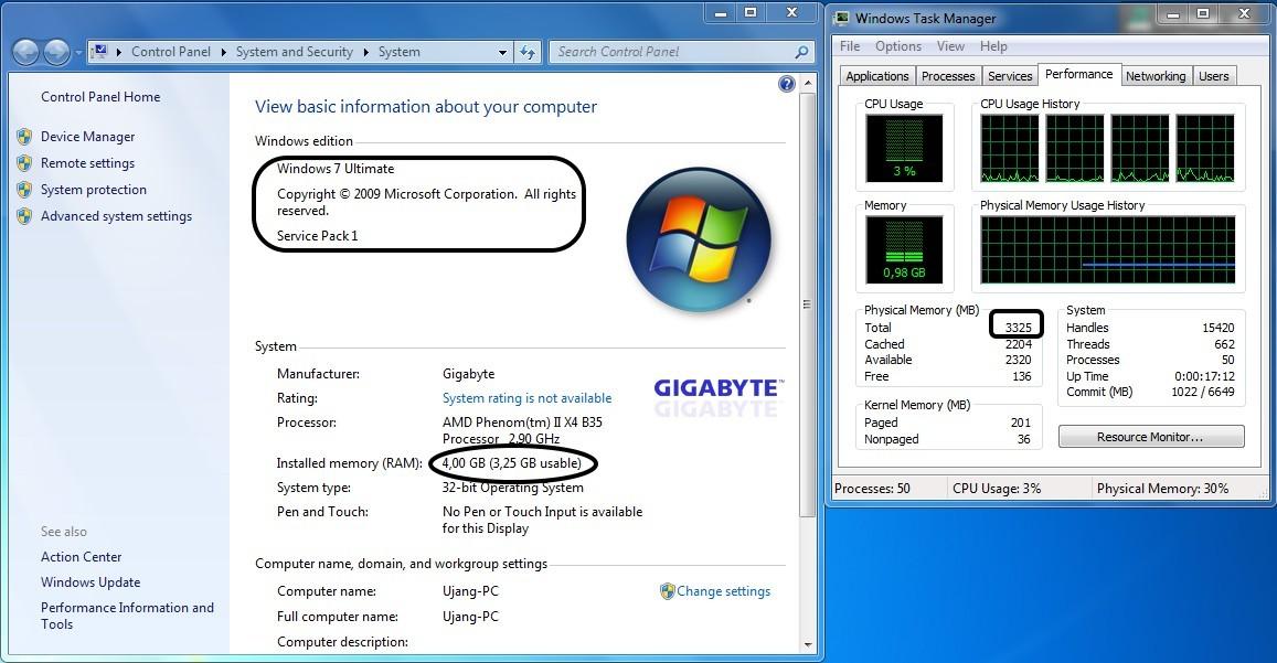 Memeksimalkan Ram 4 Gb Pada Sistem 32 Bit Shimpel