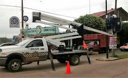Dan mantenimiento a sistema de video vigilancia en el sur del estado