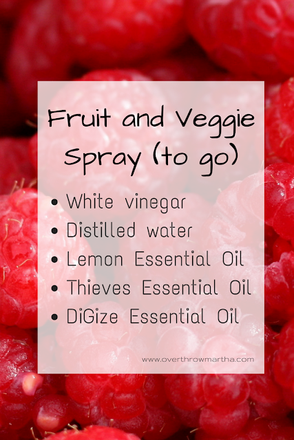 fruit and veggie spray with #essentialoils