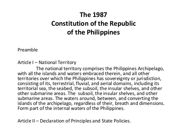 1987 constitution of the philippines the 1987 philippine constitution files: philippine constitution 1987 article ii declaration of principles and state policies principles section 5.