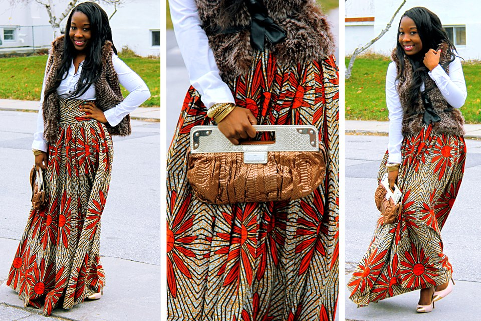 Subira Wahure Official African Couture Blog LONG KITENGE SKIRT