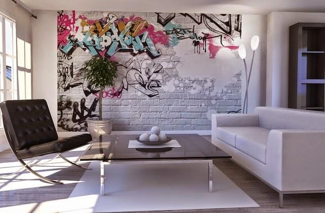 Graffiti nova tend ncia de decora o decora o e ideias - Tendencias paredes 2015 ...