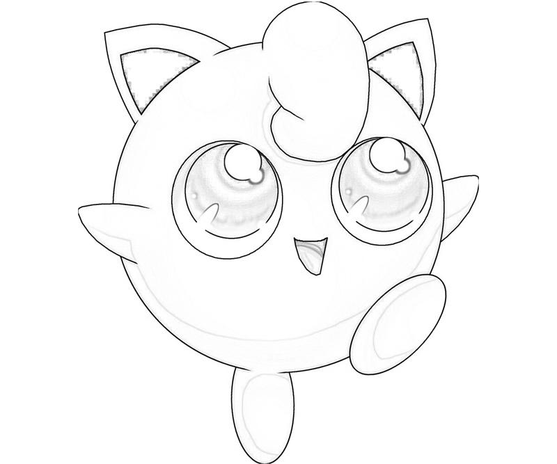 Printable Jigglypuff Funny Coloring Pages 5