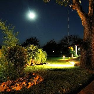 Jardins do observatório astronômico de San Cosme y Damián.