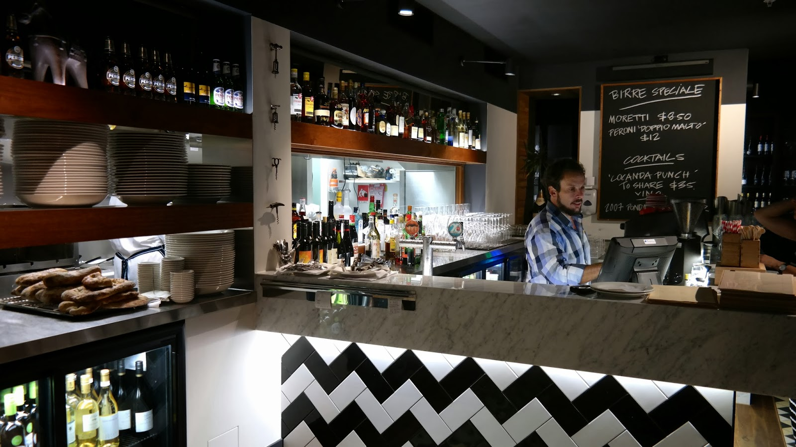 Foodmeupscotty locanda osteria and bar simple italian fare but with strong flavours - Bar area in kitchen ...