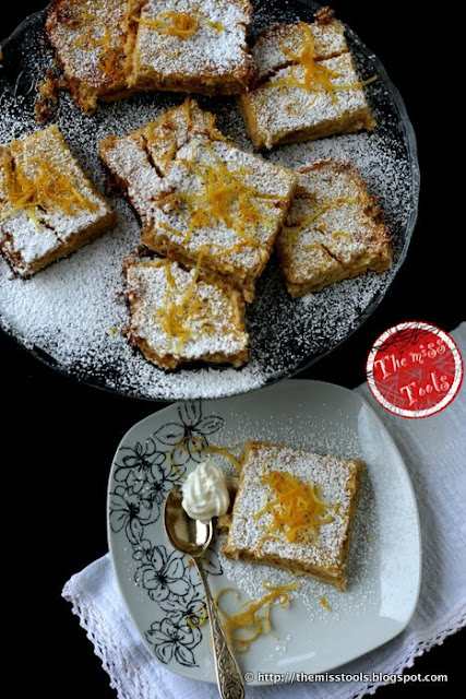 dolci fette alla crema di mandorle e limone e riflessioni sulla donna - sweet slices with almonds and lemon cream and thought on women