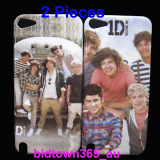 2pcs One Direction 1D Hard Platic Back Case Cover Skin For iPod Touch 5 5G Gen
