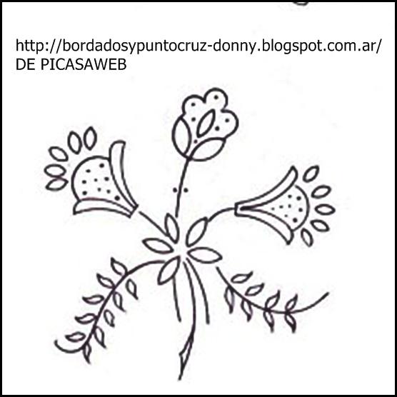 Dibujos De Ramos De Flores Para Bordar. Excellent Patrones Para ...