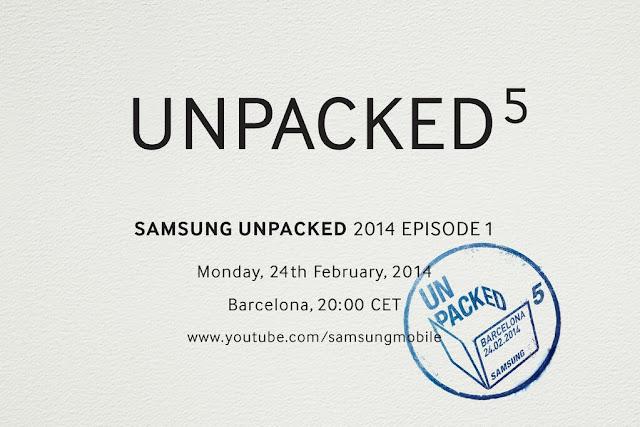 Samsung Unpacked 5 invite