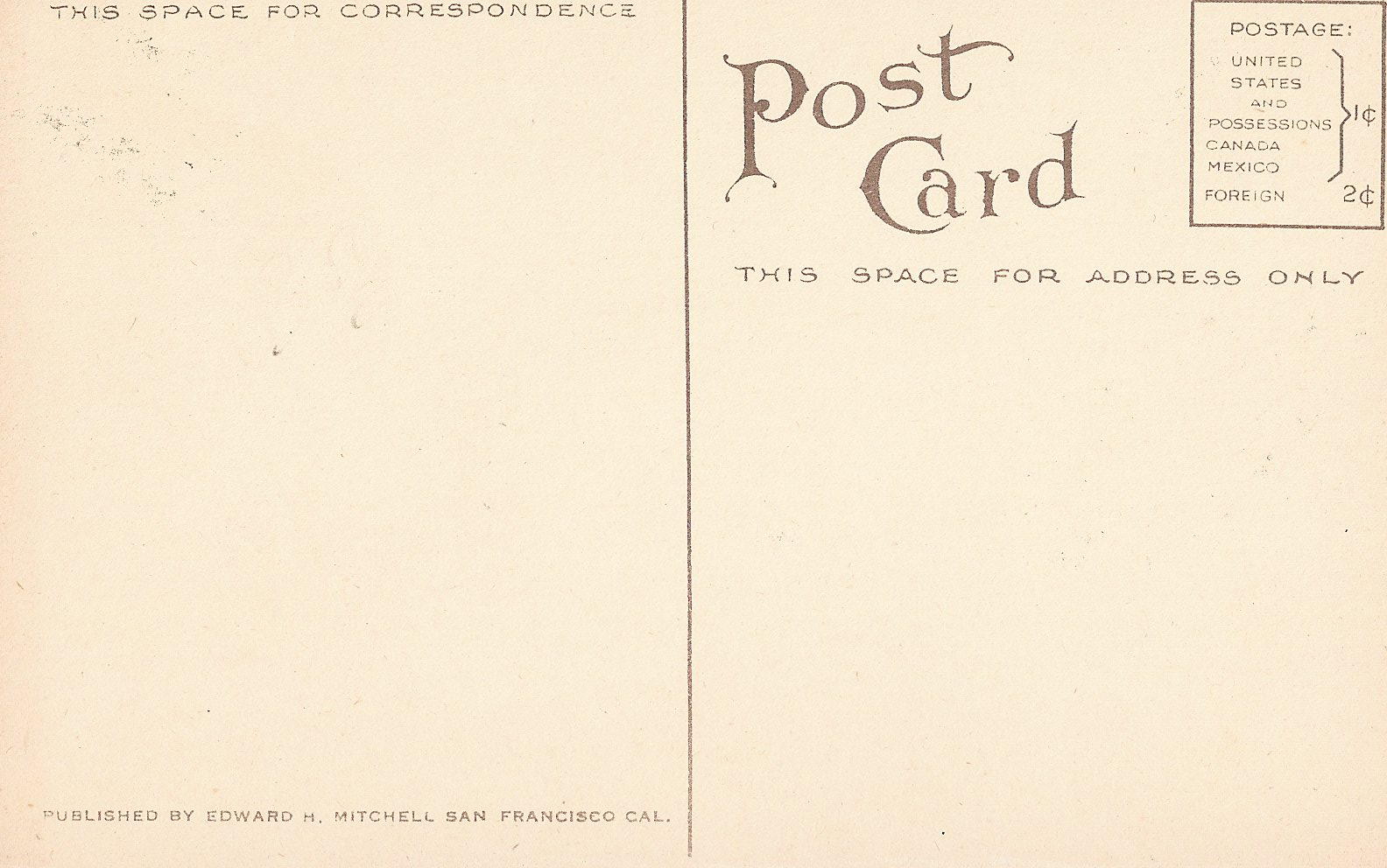 vintage postcard template front the image kid has it. Black Bedroom Furniture Sets. Home Design Ideas