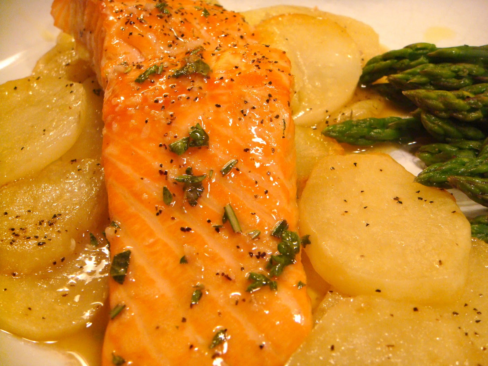 Roasted Salmon With Herb Vinaigrette (adapted from The Essential New ...