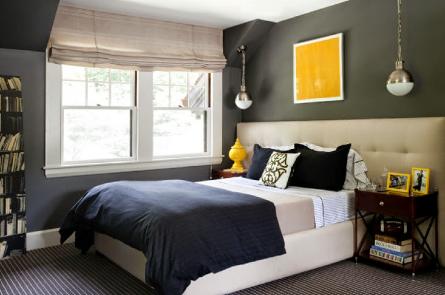 Dark Grey Colour For A Small Bedroom