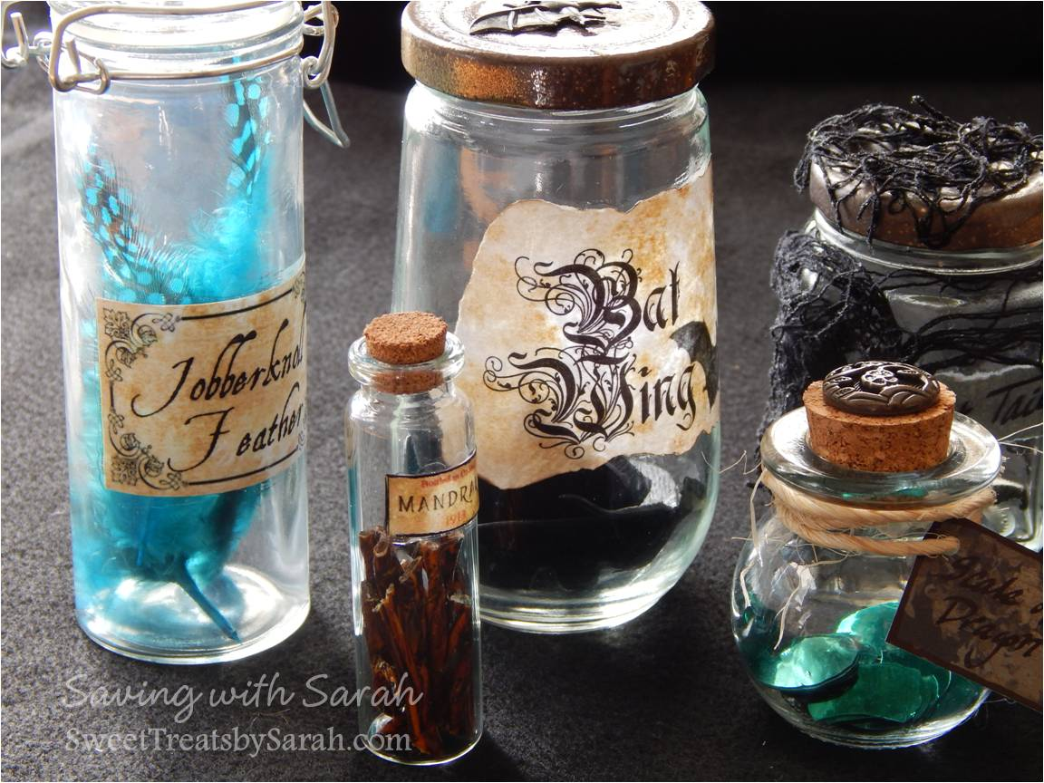 Saving with sarah harry potter potion bottles diy free printable solutioingenieria Image collections