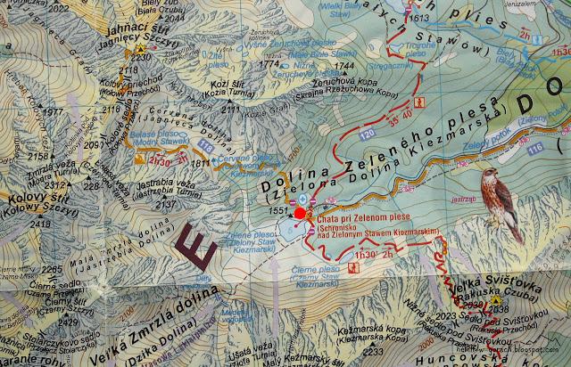 Schronisko nad Zielonym Stawem Kieżmarskim na mapie