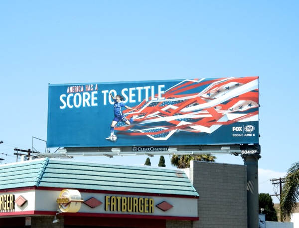 America score to settle Women's soccer billboard