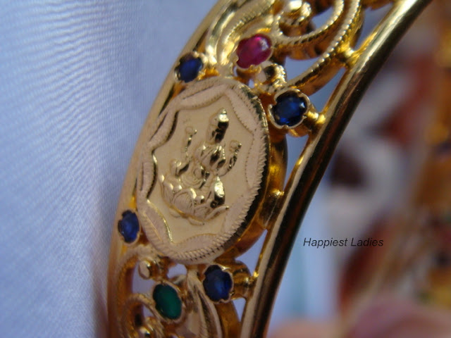 Gold Bangle Idian design+indian jewelry