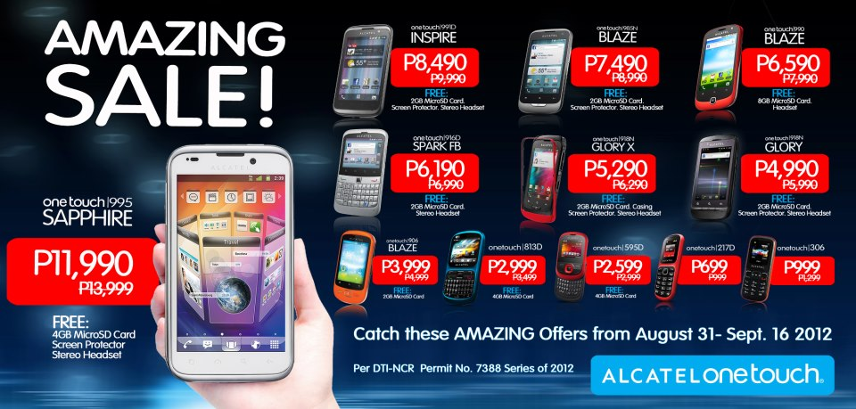 Alcatel Mobile Philippines AMAZING SALE! Price List on all Android