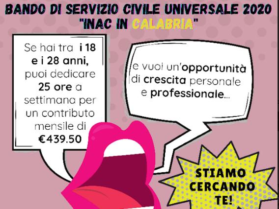 Il Patronato Inac-Cia, cerca 11 volontari per il servizio civile in Calabria