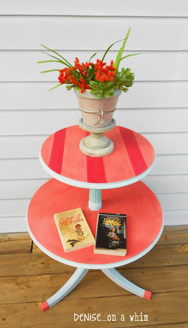 A Roadside Rescue Becomes a Cute Side Table from Denise on a Whim