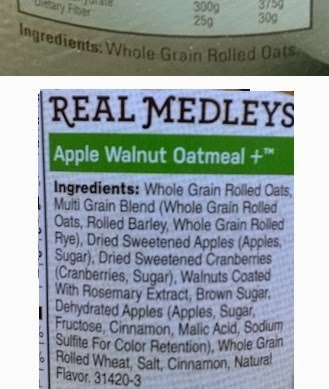 Tuit nutrition label madness monday oatmeal oatmeal 1 whole grain rolled oats one ingredient malvernweather Image collections