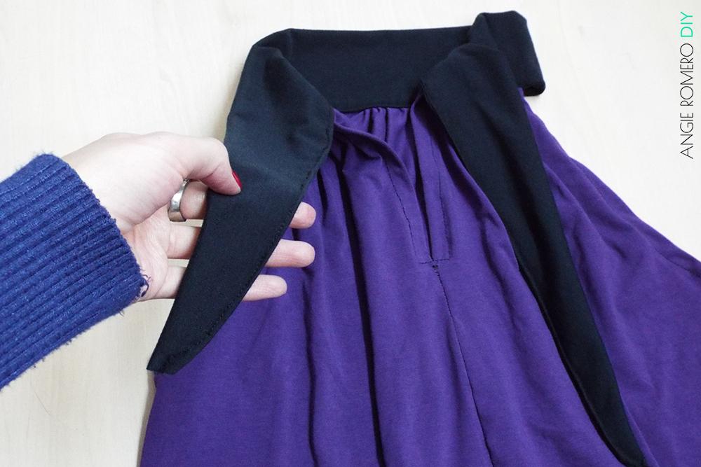 blusa escote halter lazo largo para anudar