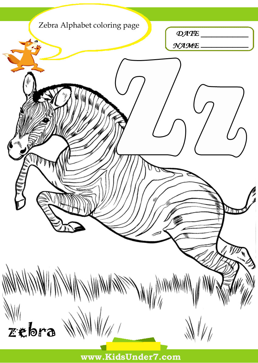 Kids Under 7 Letter Z Worksheets and Coloring Pages – Letter Z Worksheet