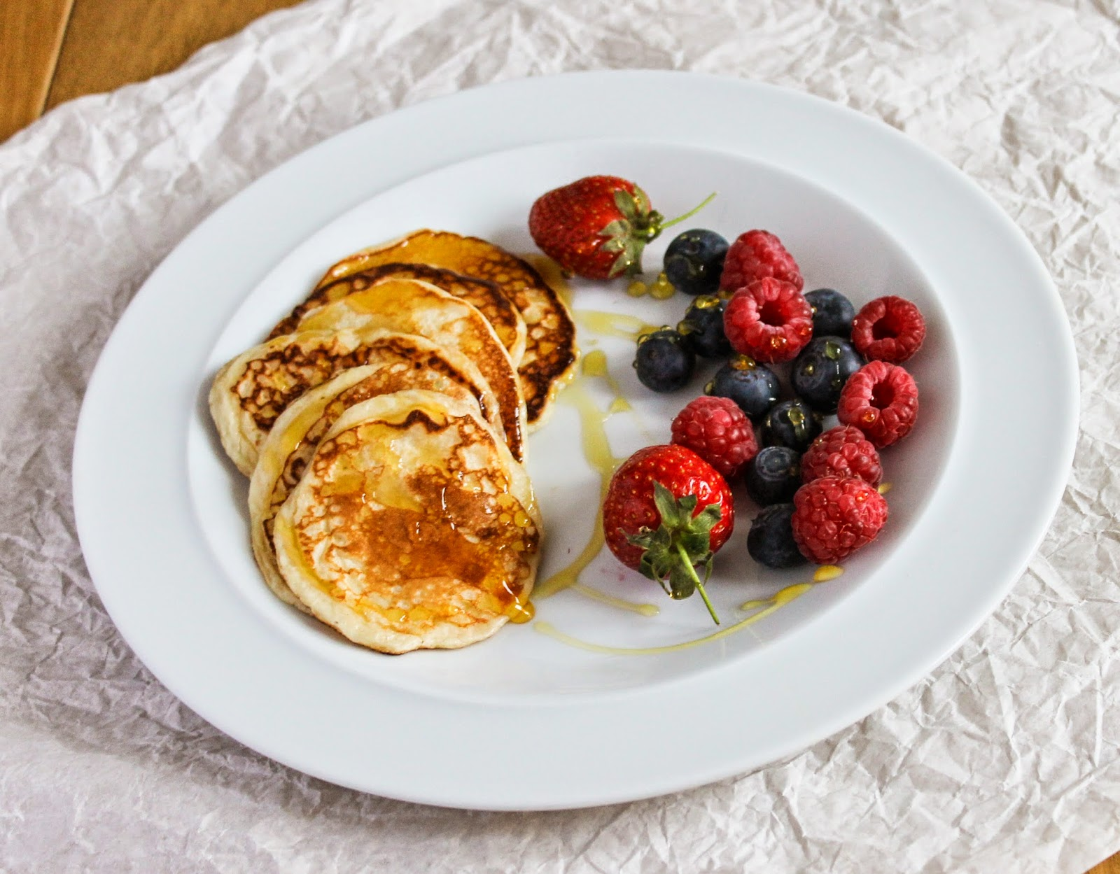 Eat like you love yourself quark pancakes heat a non stick frying pan and fry large spoonfuls in spray oil or rub butter in the pan until cooked these make delicate soft pancakes ccuart Images