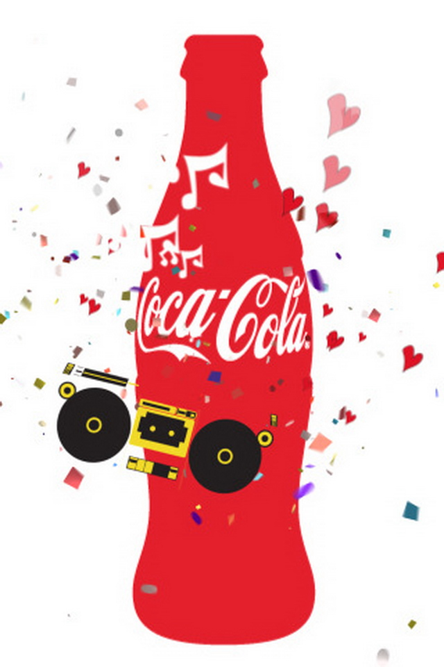 iPhone Retina Display Wallpapers: Coca Cola Retina Background Pictures
