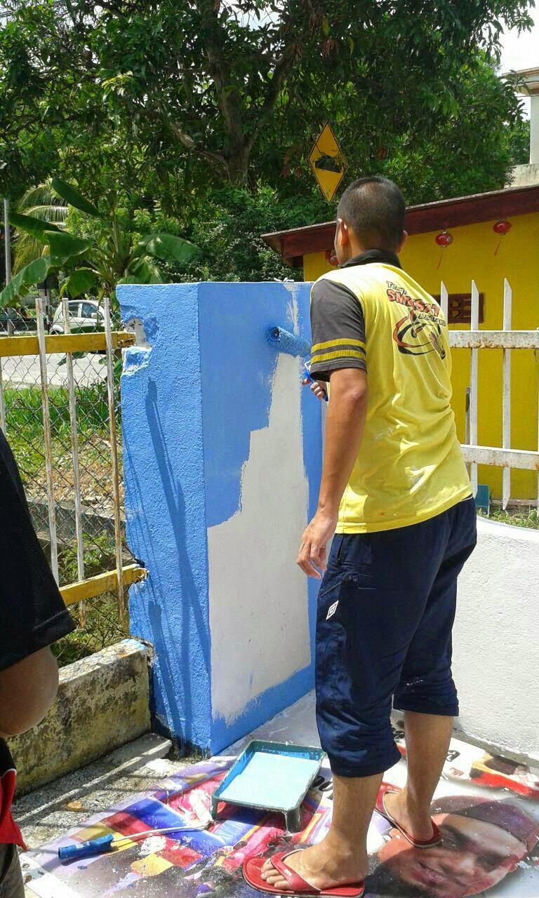 program gotong royong cat tadika di parit buntar