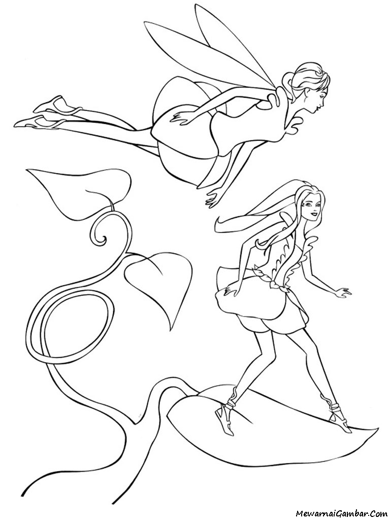 Barbie Fairytopia Coloring Pages