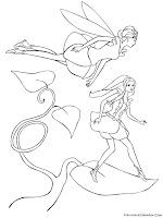 Gambar Sketsa Barbie Fairytopia Untuk Diwarnai