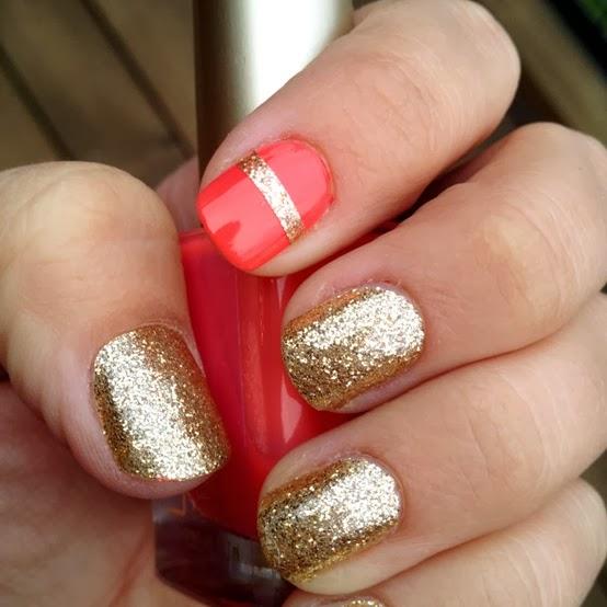 Golden Nail Art Design