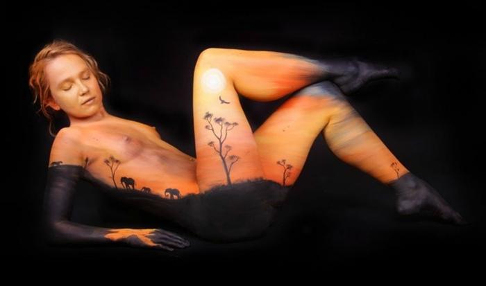 Gesine Marwedel 1987 | German Body Painting painter