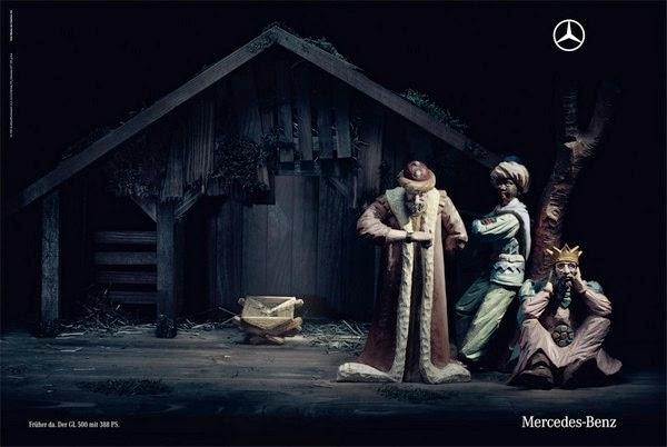 Publicidad creativa, navidad, Mercedes Benz