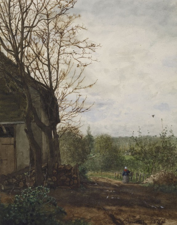 Léon Bonvin French, 1864, Farm Building as seen on l&l (linen & lavender)