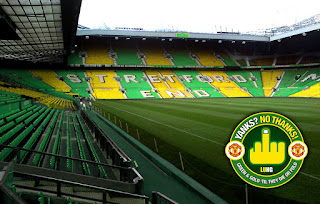 The Stretford End in Green and Gold